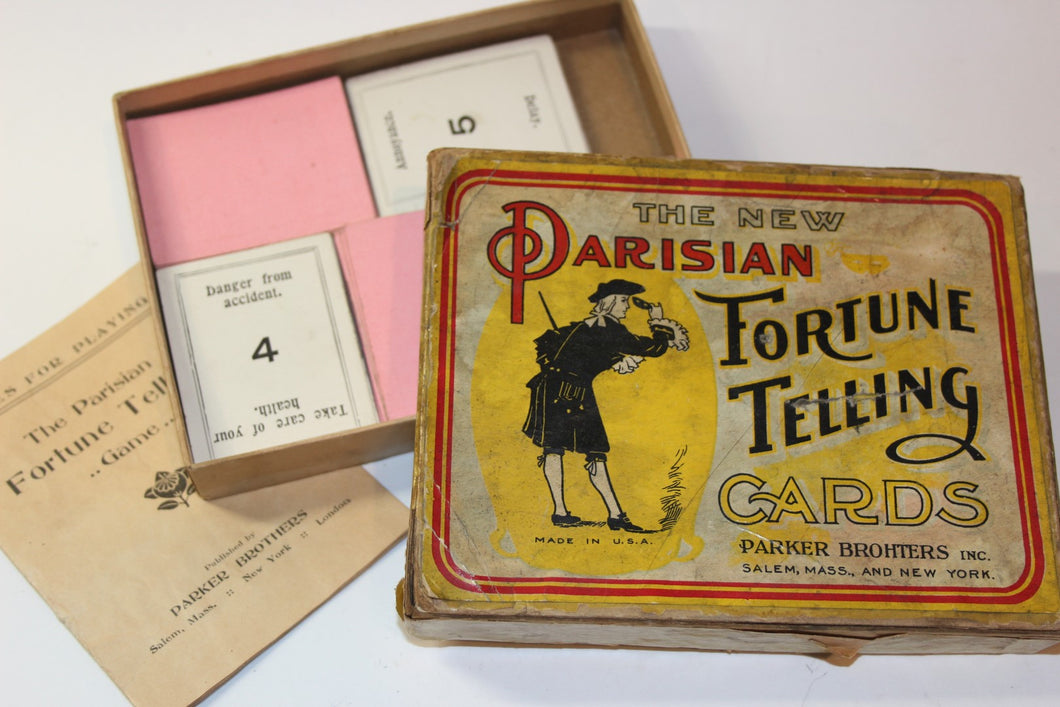 The New Parisian Fortune Telling Cards  -  Parker Brothers/Salem Mass