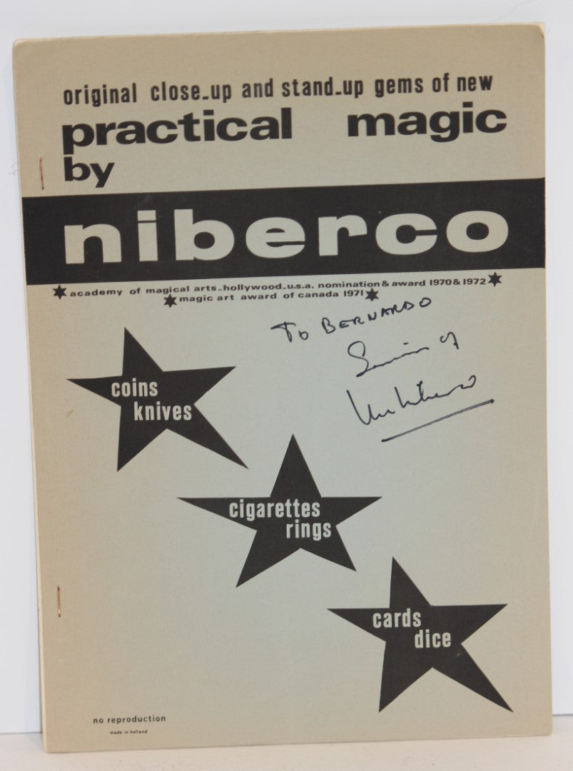 Original Close-Up and Stand Up Gems of New Practical Magic  -  Niberco  (Signed)