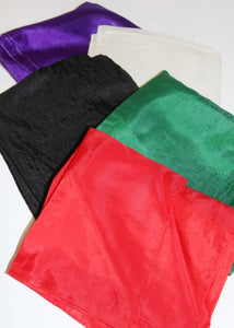 "Five 24"" Assorted Color Silks"
