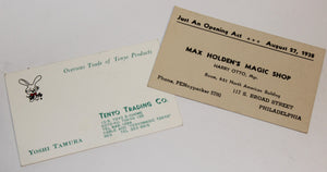 Tenyo & Max Holden Business Cards