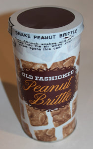 Old Fashioned Peanut Brittle Snake Can