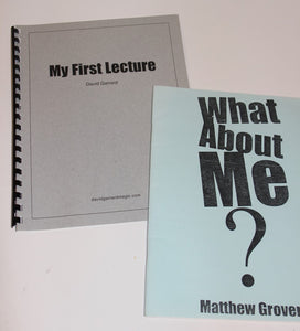 My First Lecture & What About Me?