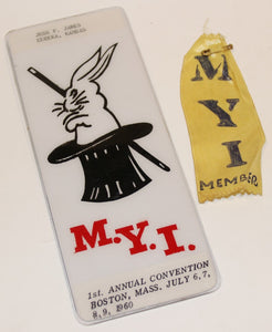 M.Y.I. Plaque & Convention Ribbon