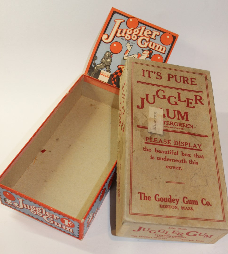 1 Cent Juggler Gum Balls Display Box