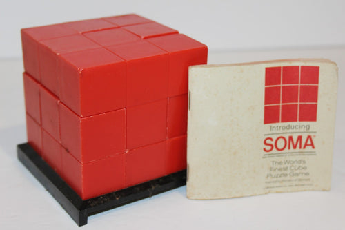 Soma, Cube Puzzle Game  -  Parker Bros. c 1969