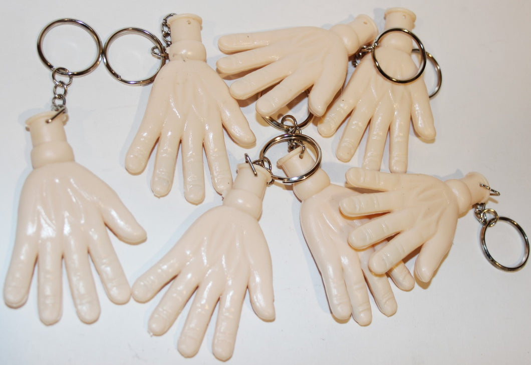 Key Chains with A Soft Plastic Hand