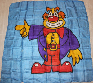 "34"" unusual Very Colorful Clown Silk"