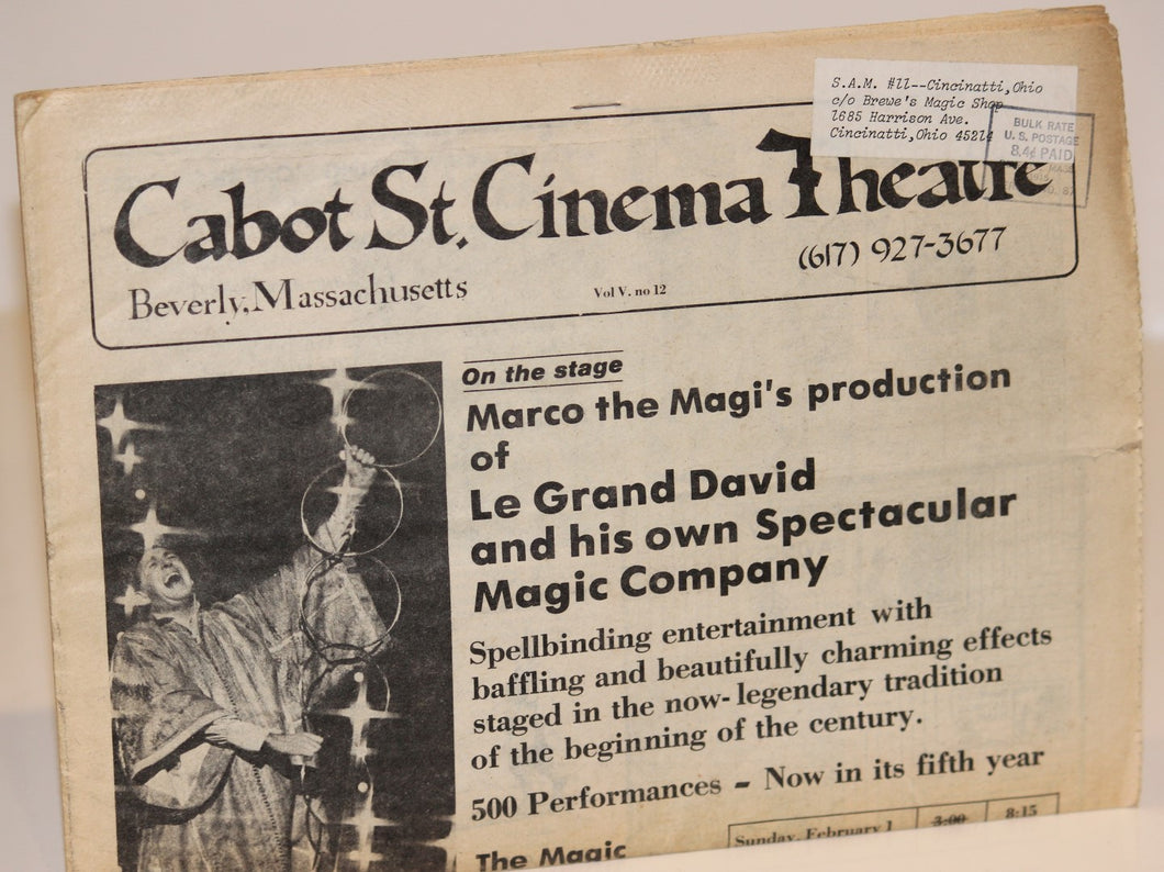 Cabot St. Cinema Theatre Featuring Marco the Magi's Production of Le Grand David