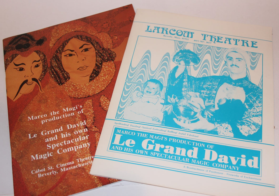 Two Le Gand David Theatre Program Booklets