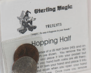 Hopping Half  -  Sterling Magic