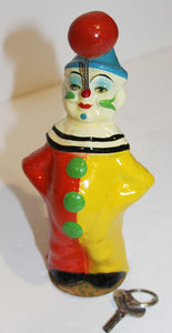 Twirling Clown Celluloid Toy