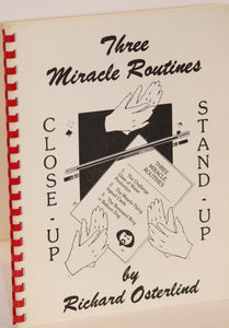 Three Miracle Routines Close-Up & Stand-Up-  Richard Osterlind