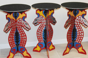 TWO Vintage Dragon Tables