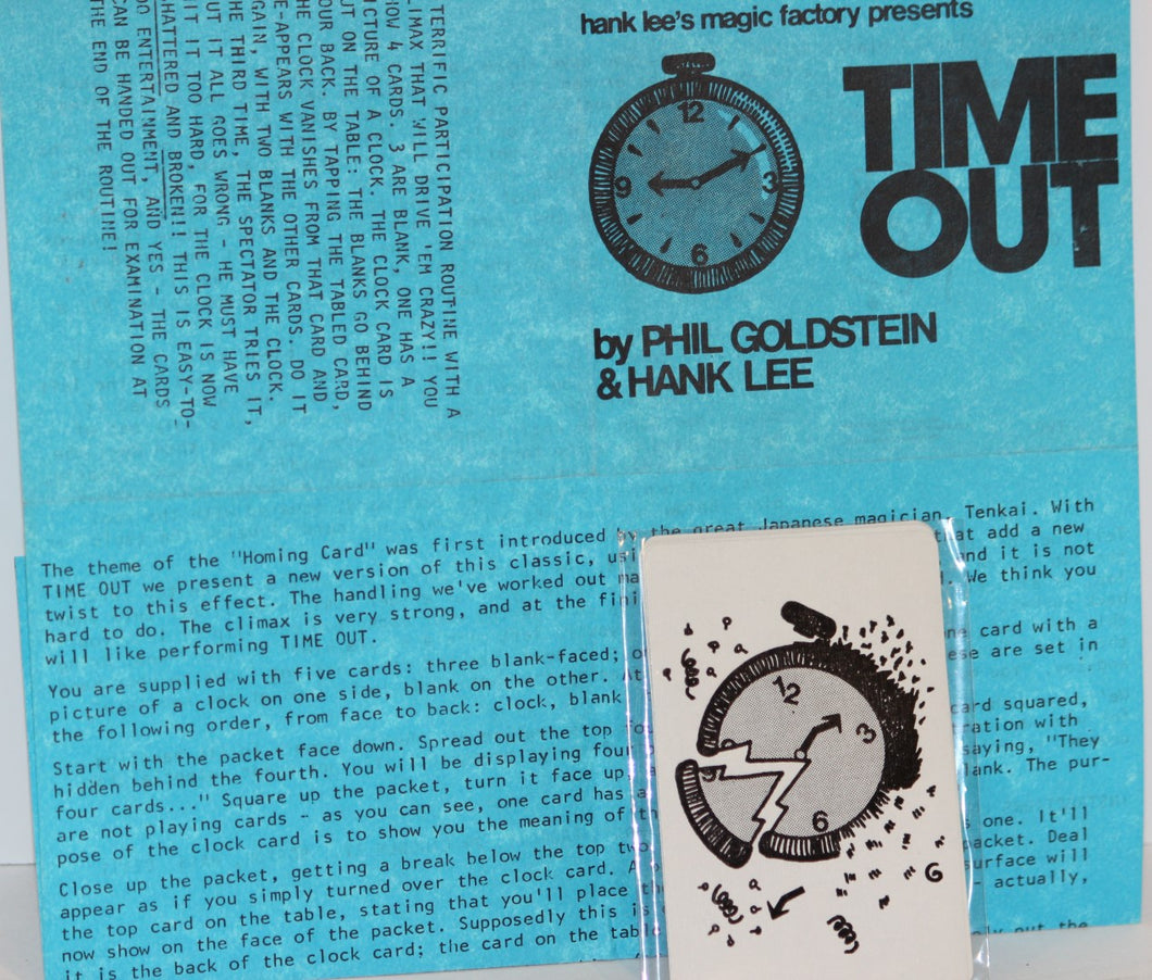 Time Out  -  Phil Goldstein & Hank Lee