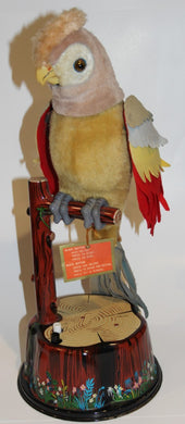 Louis MARX Pete The Parrot 1960 Battery Operated Tin Litho  -  U.F. Grant/Japan