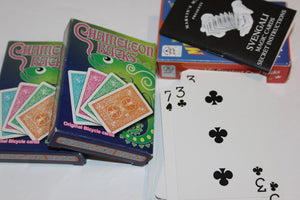 2 Chameleon Backs Cards & Marvin's Amazing Magic Cards w/20 tricks book  (B)