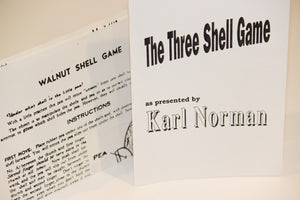 The Three Shell Game, Karl Norman & Walnut Shell Game instructions