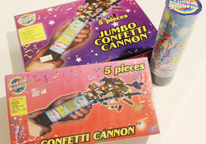 Jumbo & Regular Size Confetti Cannons