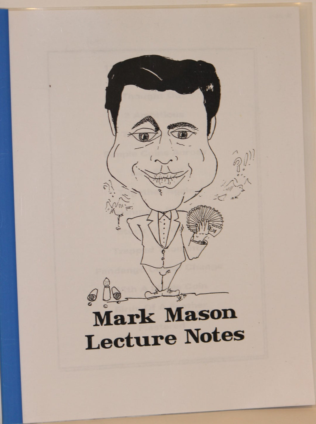 Lecture Notes  -  Mark Mason