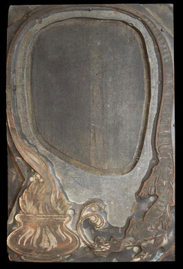 Large Copper Printing Plate  -  Rare