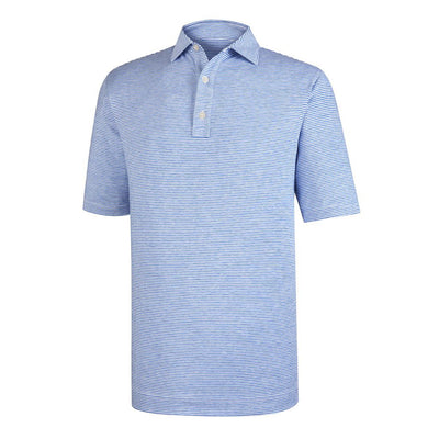 Playera FootJoy Prodry Performance Heather Lisle Mini Stripe - Self Collar - Athletic Fit Hombre