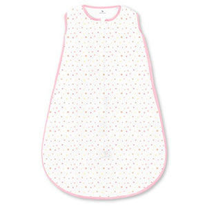 Amazing Baby Microfleece Sleeping Sack with 2-Way Zipper, Playful Dots, Pink, Large