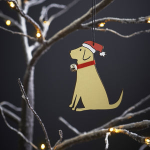 Sweet William Christmas Decoration (Yellow Lab) (5970864439462)