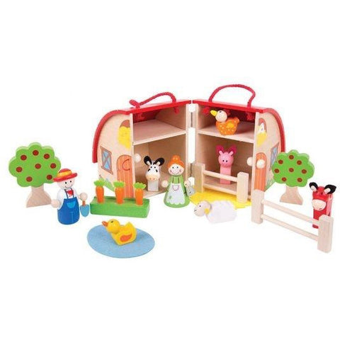 Bigjigs Toys Mini Farm Playset (4123037171757)