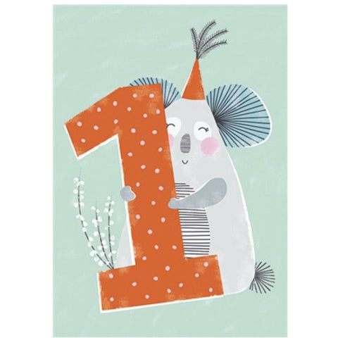 The Art File First Birthday Card - Koala (4706103328900)