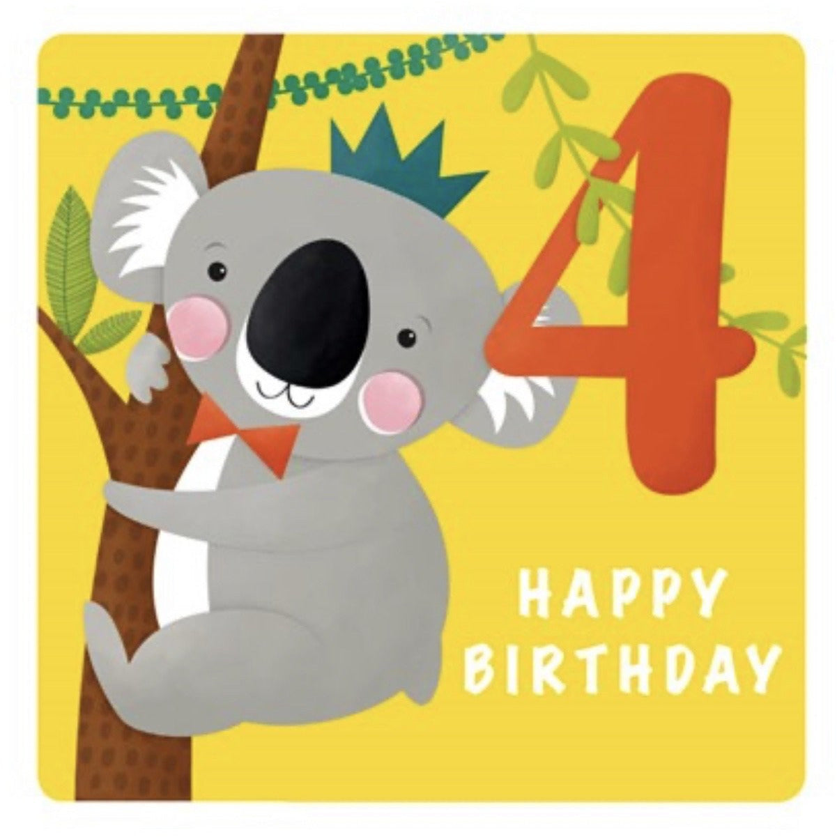 The Art File Fourth Birthday Card - Koala (4706173517956)