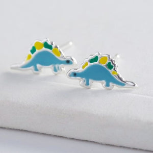 Lisa Angel Sterling Silver Dinosaur Earrings (4546994765956)