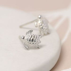Peace of Mind Sterling Silver Turtle Earrings (5456273997990)