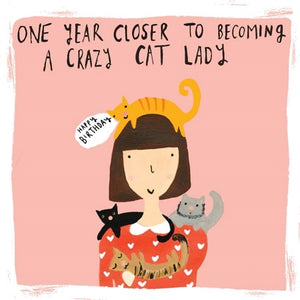 Sooshichacha Crazy Cat Lady Birthday Card (5458825216166)