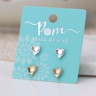 Peace of Mind Heart Earring Set (6004483260582)