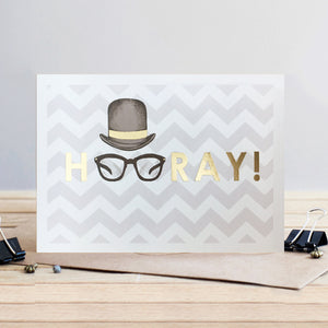 Louise Tiler Gold Hooray Card (4697513394308)