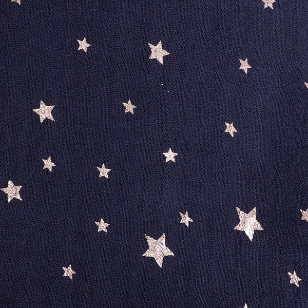 Miss Sparrow London Star Scarf - Navy (4484873879684)