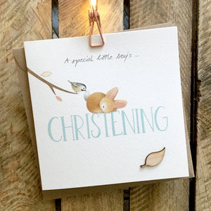 Ginger Betty Christening Card (boy) (6087574093990)
