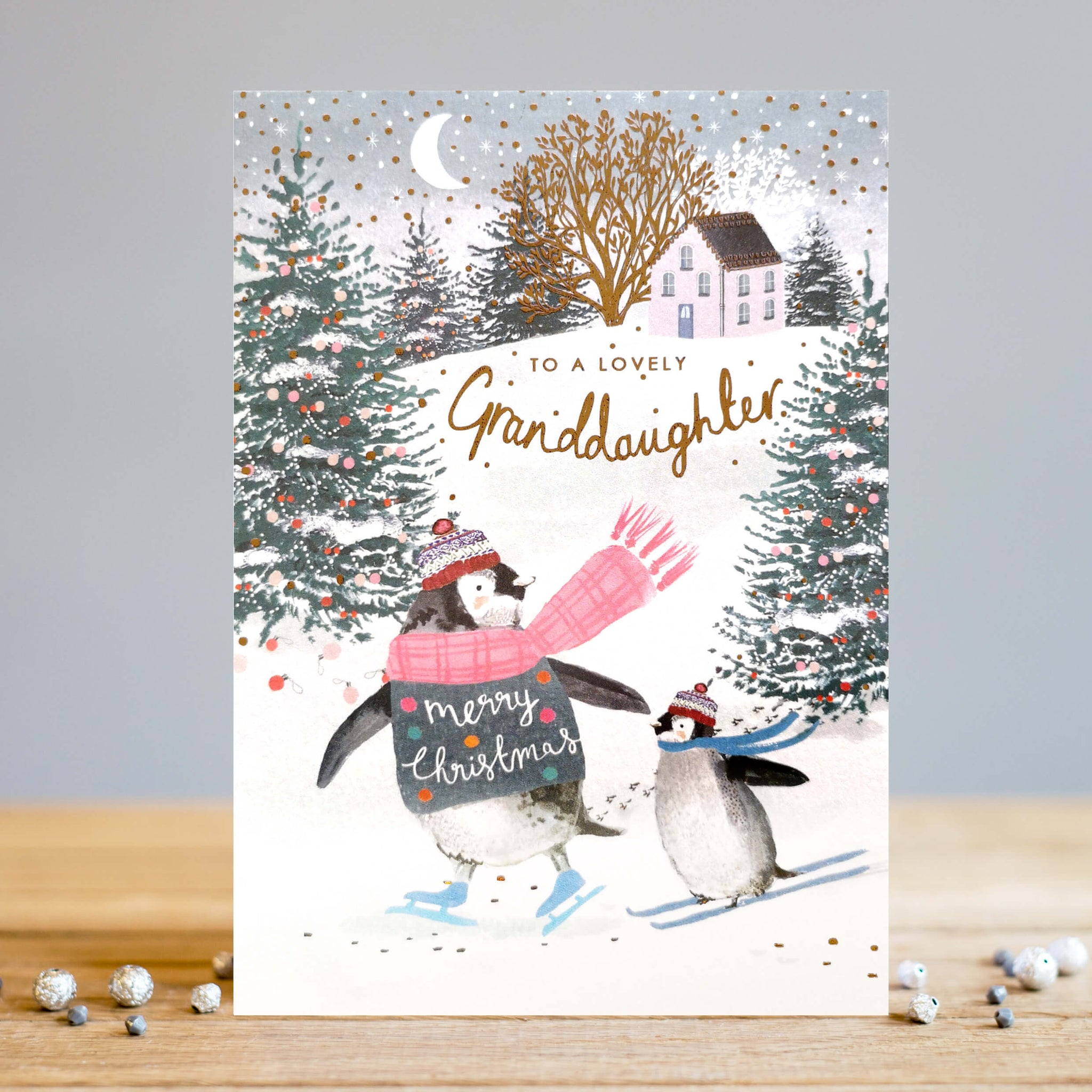 Granddaughter Skating Penguin Card (5919450497190)