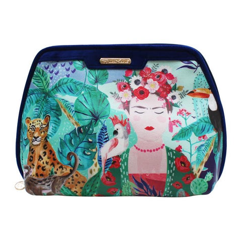 Frida Kahlo Tropical Make Up Bag (5548881608870)