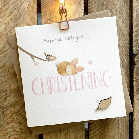 Ginger Betty Christening Card (girl) (6087579697318)