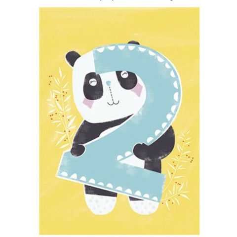 The Art File Second Birthday Card - Panda (4706104868996)