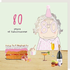 Rosie Made A Thing 80th Birthday Card (girl) (6138564116646)