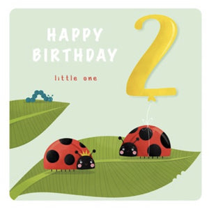The Art File Second Birthday Card - Ladybird (4706160017540)