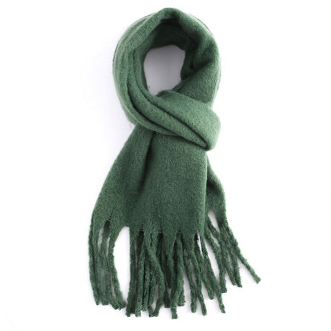 Miss Sparrow Forest Green Winter Scarf (5945819725990)
