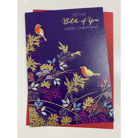 Sara Miller 'To the Both of Your Christmas Card - Robin (4374128558212)
