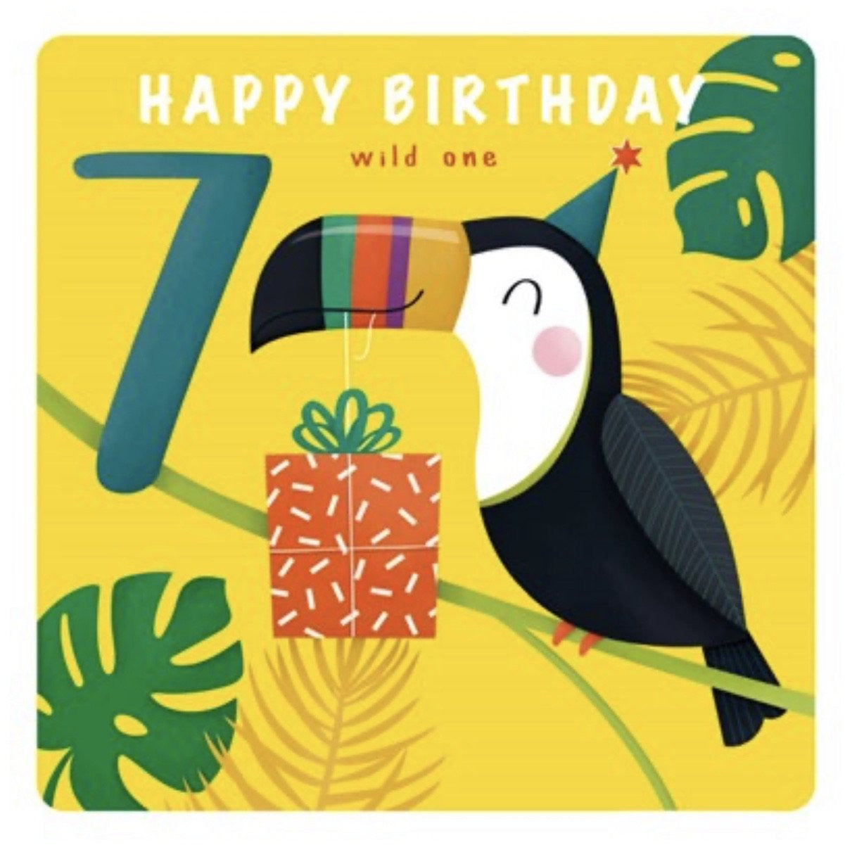 The Art File Seventh Birthday Card - Toucan (4706196160644)