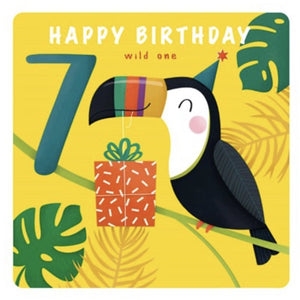 The Art File Seventh Birthday Card - Toucan