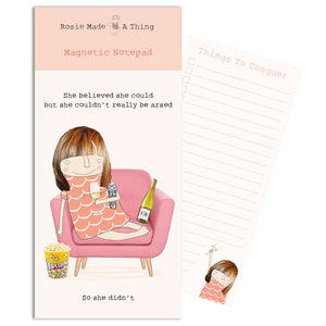 Believed She Could Magnetic Notepad (6539637620902)