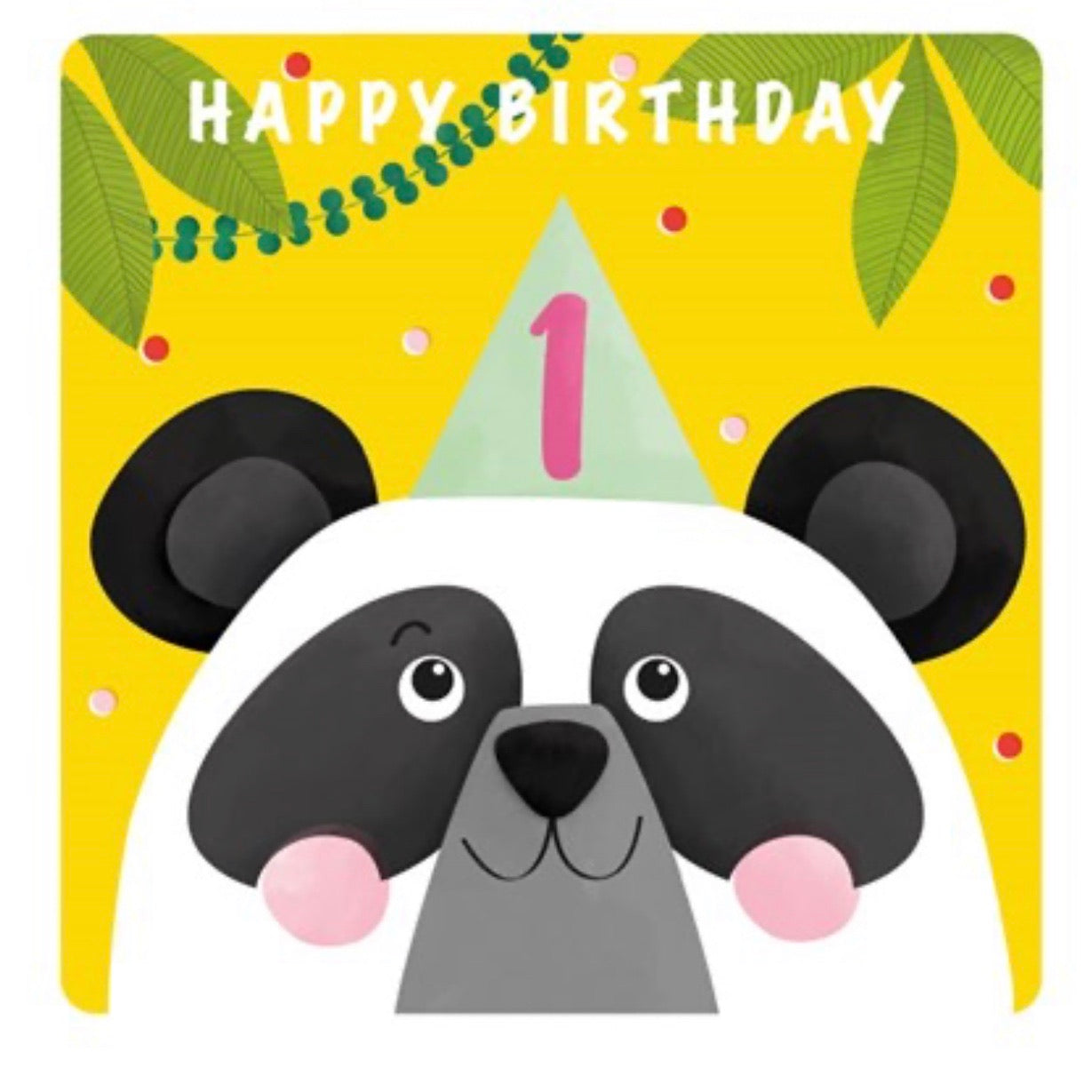 The Art File First Birthday Card - Panda (4706151956612)