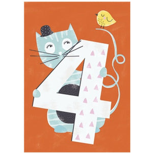 The Art File Fourth Birthday Card - Cat (4706119942276)